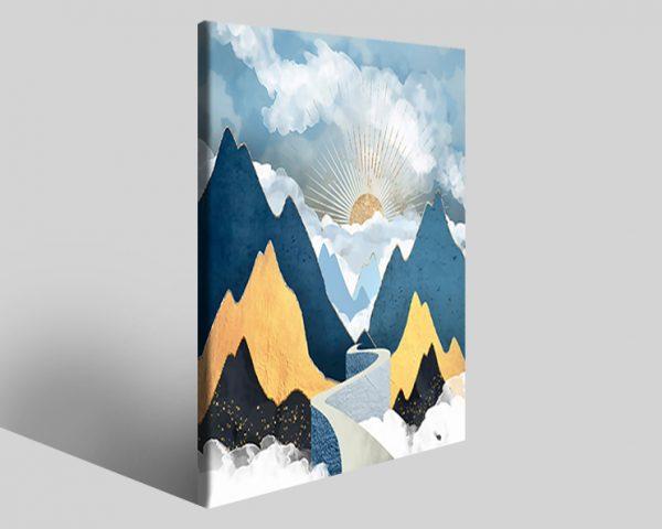 Quadro geometrico Design 796 stampa su tela