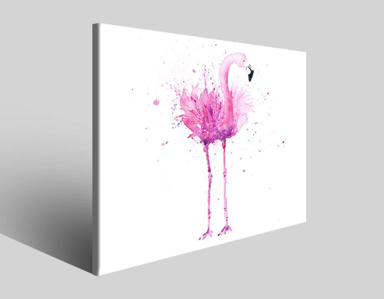 Quadri animali Flamingo II stampe arredamento moderno