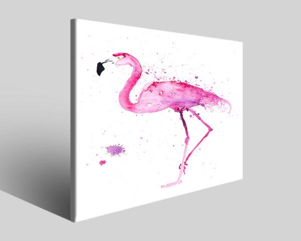 Quadri e stampe animali Flamingo III arredamento moderno