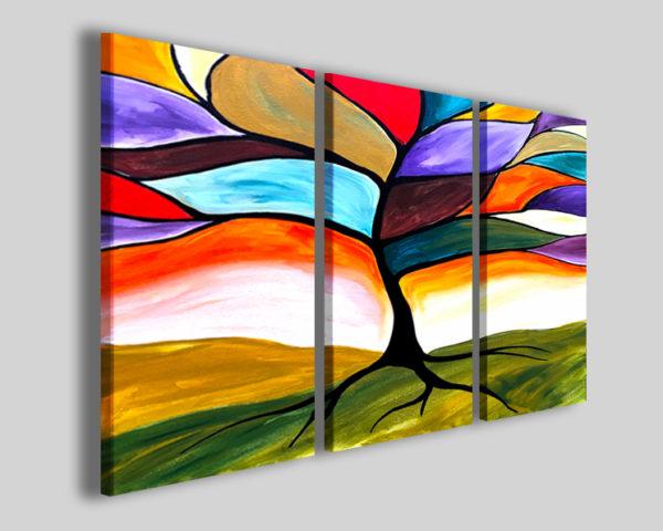 Quadri moderni Glass tree effetto pittura stampa su canvas