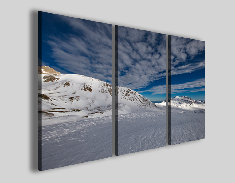 Quadri Gran Sasso vetta stampe paesaggi Abruzzo panorama neve