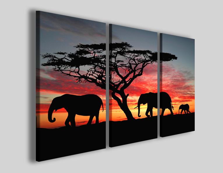 Quadri etnici e africani Group of elephant in Africa