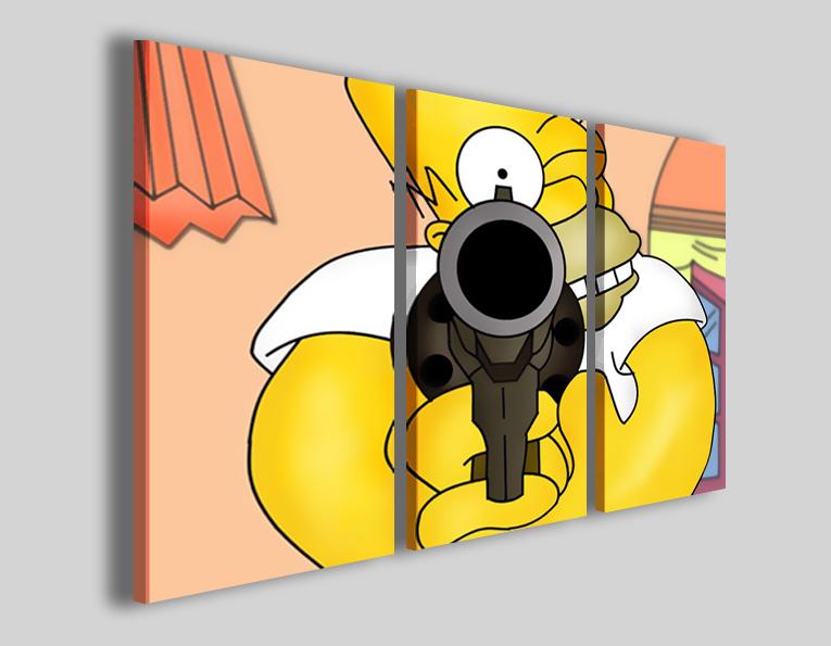 Quadro per bambini Homer Simpson stampe poster cartoni animati