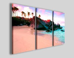 Quadri moderni Island beach stampe su tela