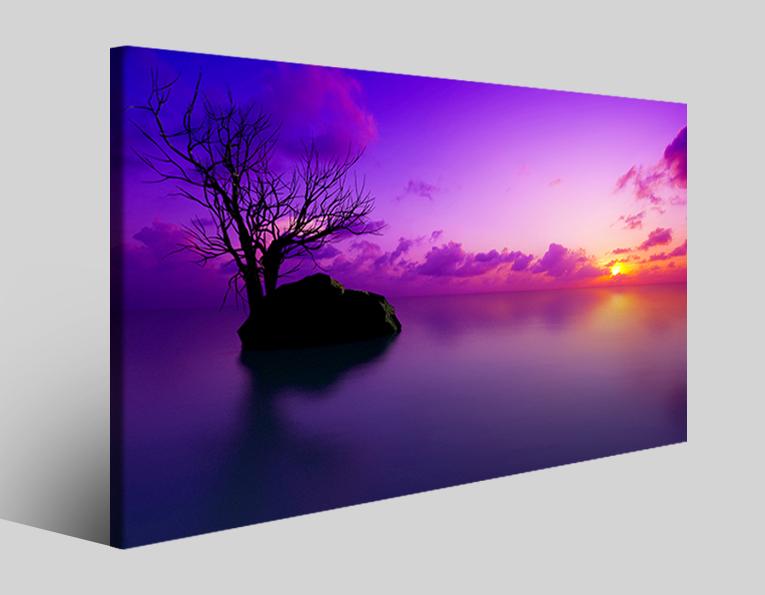 Quadro paesaggio Maldives sunset stampa su tela