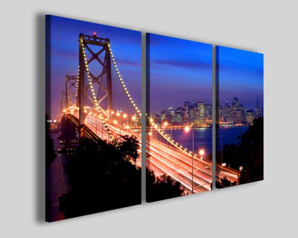 Quadri città New york bridge II stampe su tela moderne