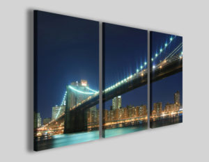 Quadri città New york bridge I stampe su tela