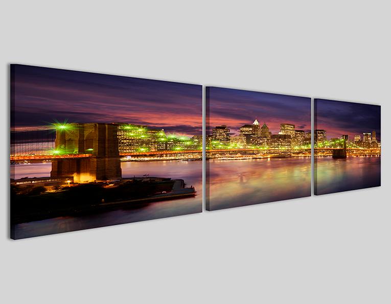 Quadri città skyline New York bridge III Q3 stampe su tela