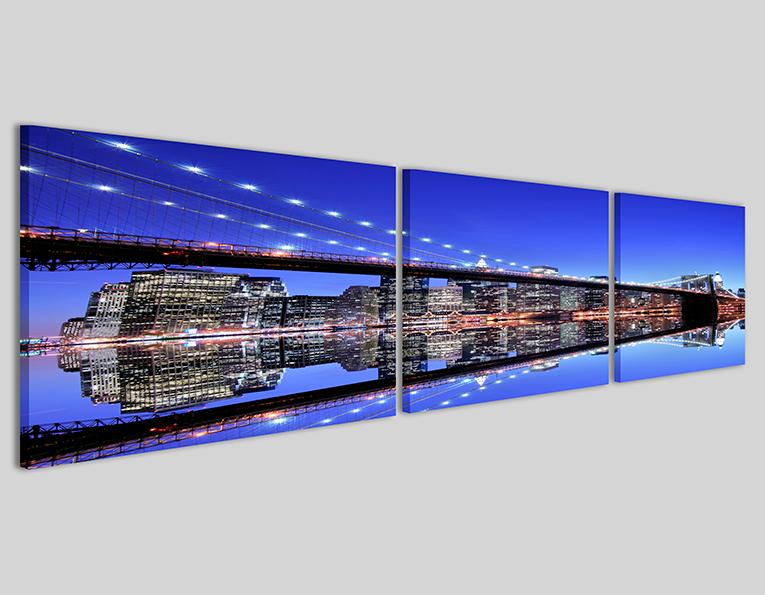 Quadri città skyline New York bridge IV Q3 stampa su tela