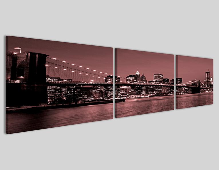 Quadri città panoramica New York bridge VII Q3 stampe canvas
