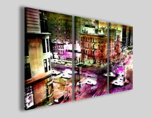Quadri astratti New york background colors stampe città