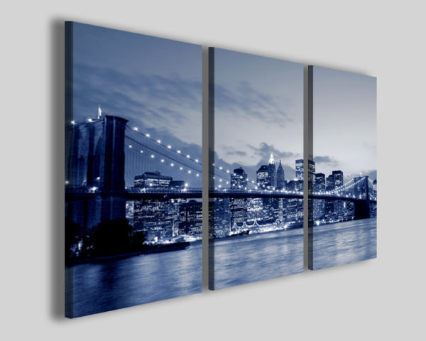 Quadri città New york bridge V stampe moderne su tela