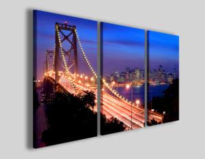 Quadri città New york bridge II stampe su tela