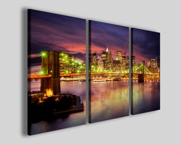 Quadri città New york bridge III skyline stampe moderne