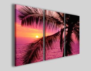 Quadri moderni Palma in prime stampe hawaii mare spiaggia