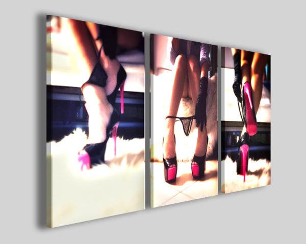 Quadri sexy moderni Purple heels stampe tacchi a spillo