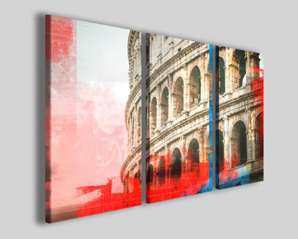 Quadri Colosseo blu red stampe su tela