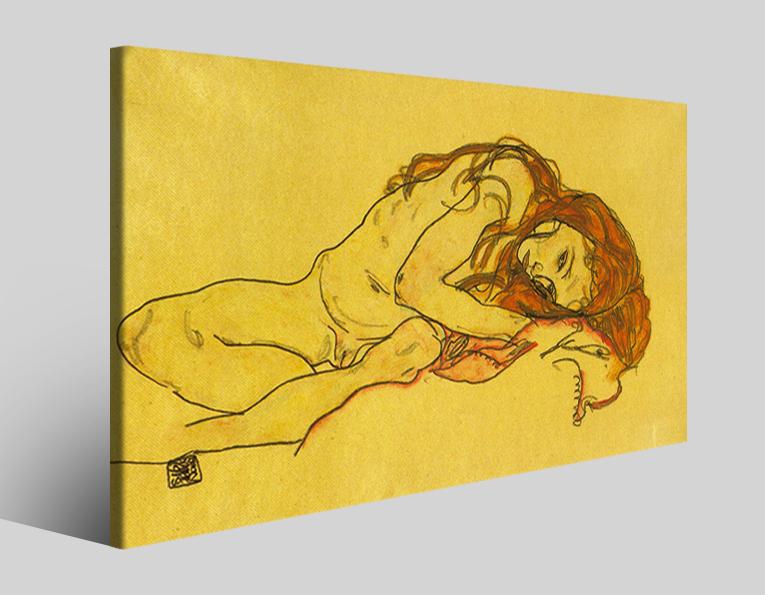 Quadri Egon Schiele XXXII stampa su tela riproduzione