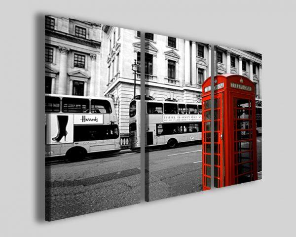 Quadri Londra telephone stampa cabina telefonica