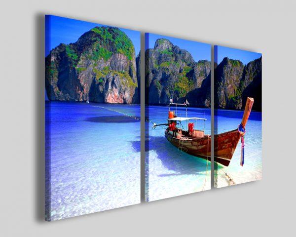 Quadri Long tail boat in thailandia stampe barche