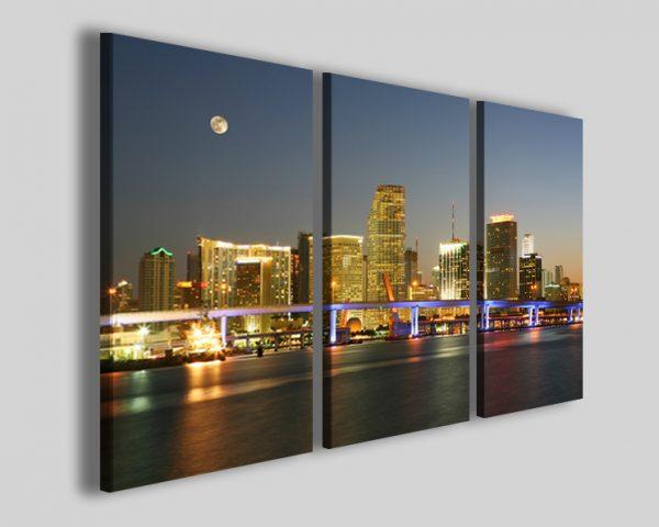 Quadri Miami night florida stampe città