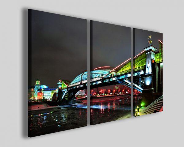 Quadri Mosca bridge stampe città su tela