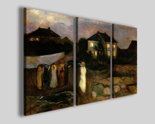 Quadri Munch Edvard Il temporale riproduzione su tela