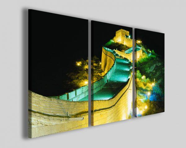 Quadri Muraglia cinese at night stampe cina