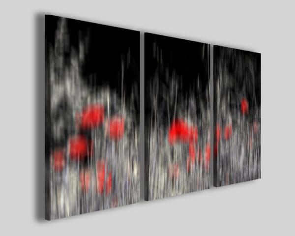 Quadri astratti L'ombra dei tulipani stampe moderne