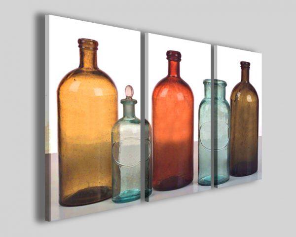 Quadri bottiglie antiche Old bottle stampe su tela