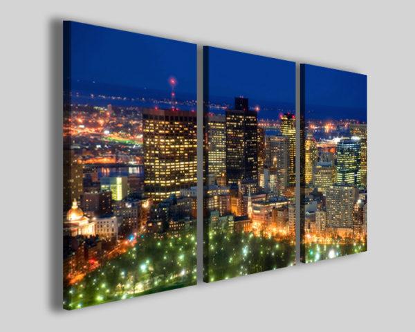Quadri città Boston city stampe skyline