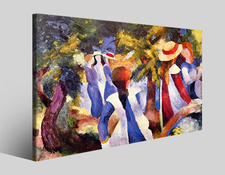 Quadri famosi August Macke art XIII riproduzioni su tela