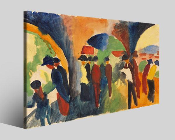 Quadri famosi August Macke art VI riproduzioni su tela