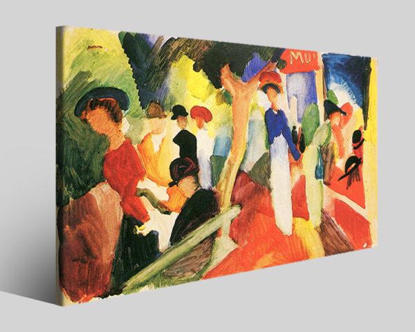 Quadri famosi August Macke art VII riproduzioni su tela