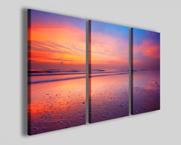 Quadri mare Ocean at night stampe su tela tramonto