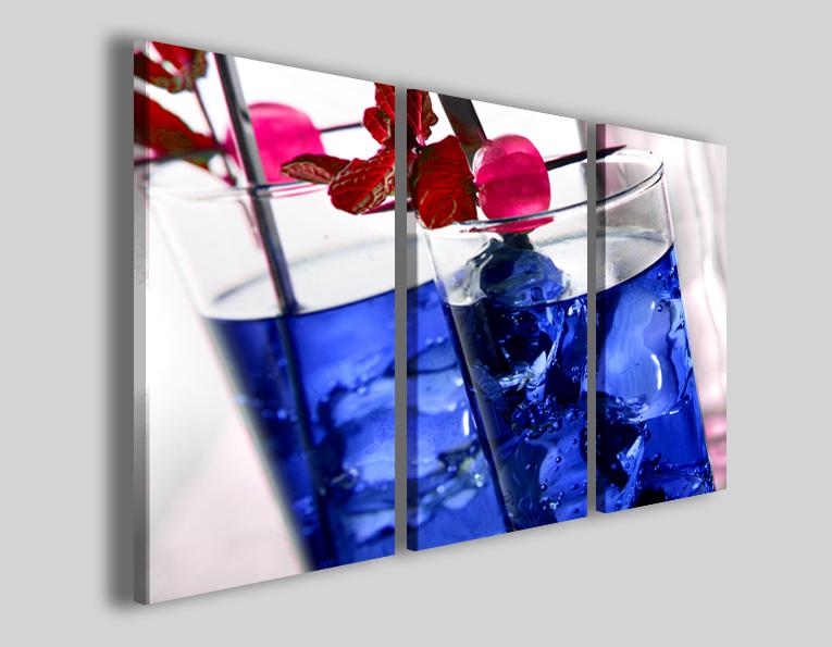 Quadri moderni Blue cocktail stampe per bar