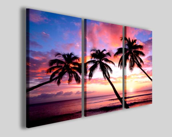 Quadri moderni palme Kings beach stampe caraibi