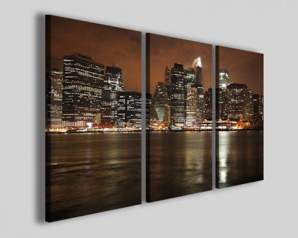 Quadri new york Manhattan at night stampe città