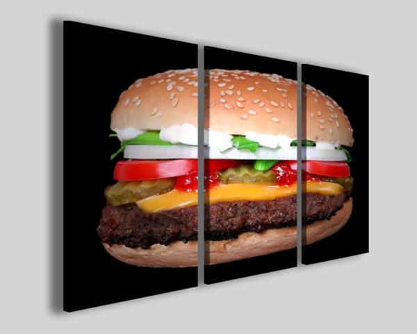 Quadri per pub Hamburger stampe food