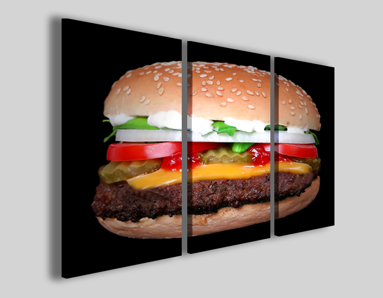 Quadri per pub Hamburger stampe food