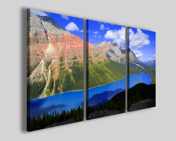 Quadro Canada landscape stampa su tela lago