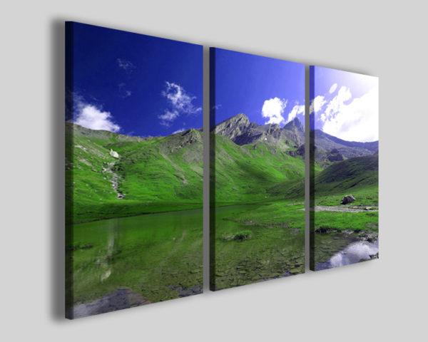 Quadro Charming mountain stampe montagne lago