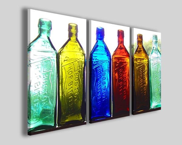 Quadro Colors bottle stampe su tela canvas