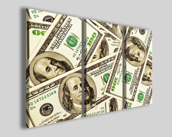 Quadro Dollars stampe su tela immagini dollari