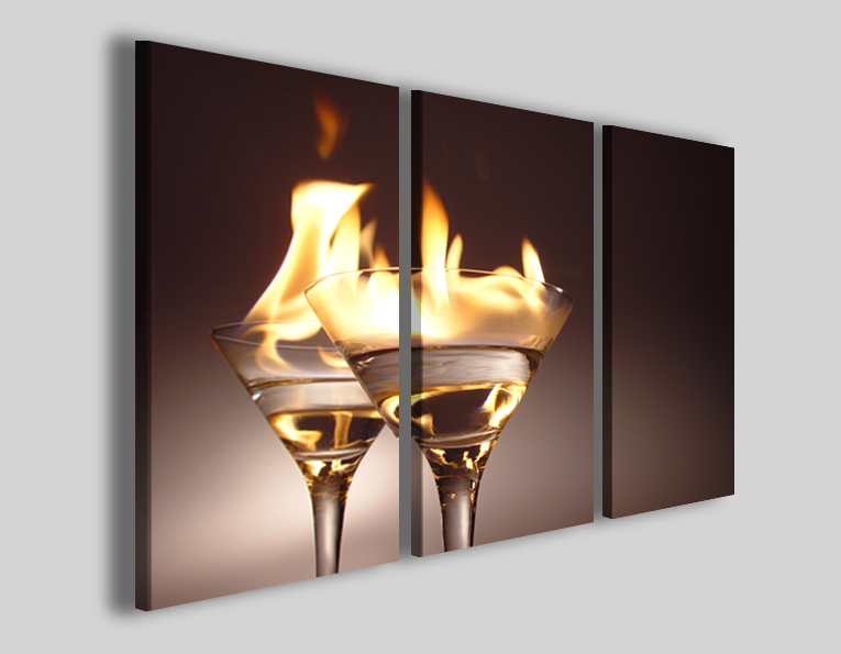 Quadro Flaming cocktails lamborghini stampe bar