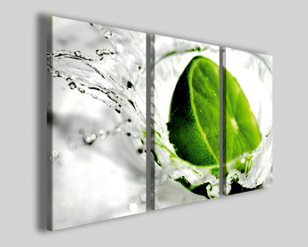 Quadro Lime stampa su tela limone food e cocktail
