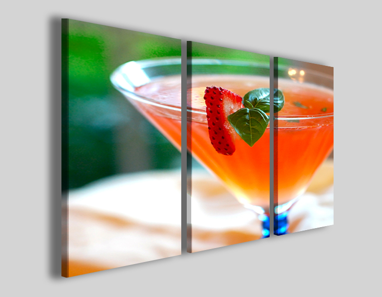 Quadri Strawberry cocktail