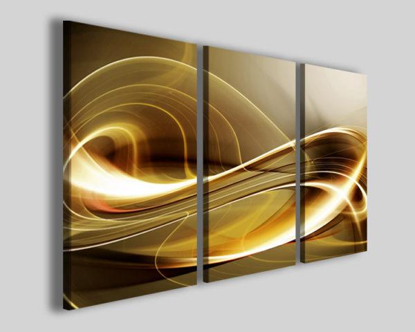 Quadri astratti Elegant design I stampe astratte oro