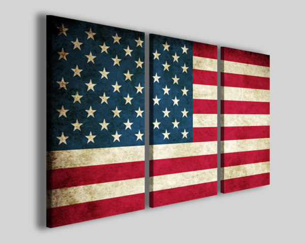 Quadro bandiera americana Usa flag stampa canvas