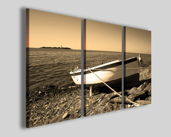 Quadro barca pescatori Gozzo stampa su tela